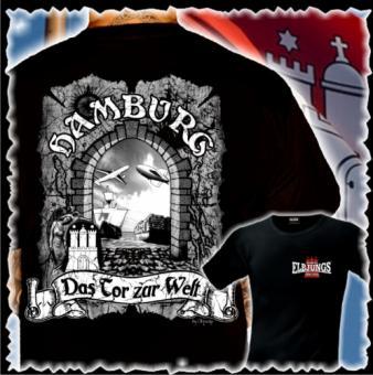 T-Shirt - Elbjungs * DAS TOR ZUR WELT * Schwarz | XXL