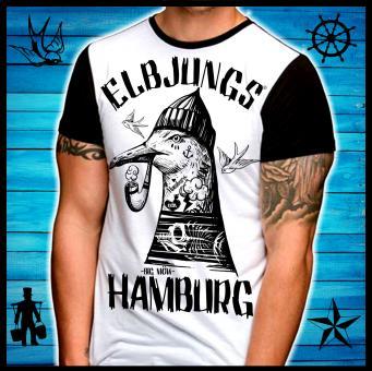 T-Shirt - Elbjungs * Big Möw * weiss/schwarz Kontrast   L