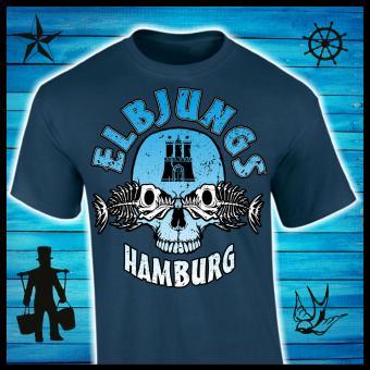 T-Shirt - Elbjungs * Fischkopp * Blue Dusk | XXL